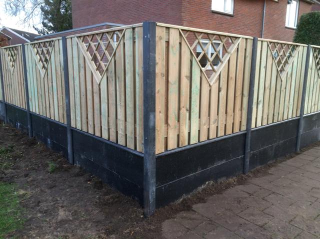 luxe hout beton schutting in hoogezand
