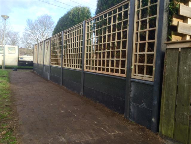 hout beton schutting in groningen