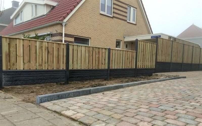 luxe hout-betonschutting keuze schutting