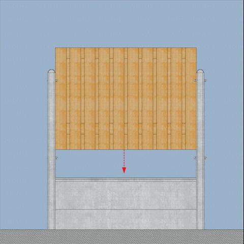Plaatsen van houten schuttingdelen