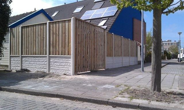 Betonschutting of houtbetonschutting Staphorst (overijssel)
