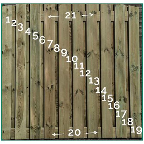 Semi luxe hout-betonschutting bestellen of laten plaatsen
