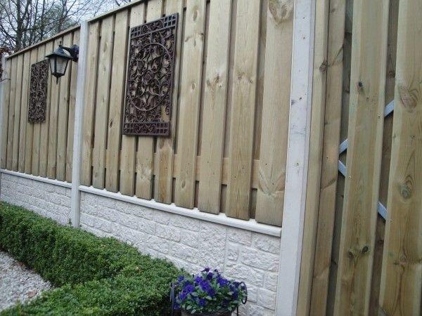 hout en beton schutting friesland