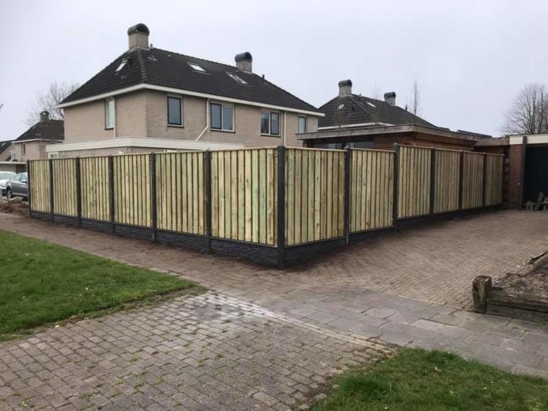 Inspiratie en voorbeelden semi luxe hout-betonschutting