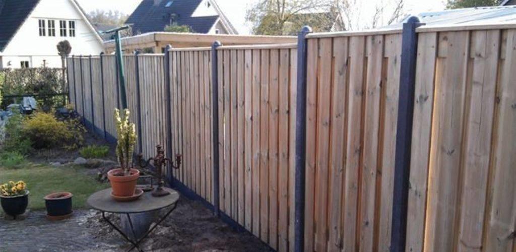 soorten schutting hout-betonschutting