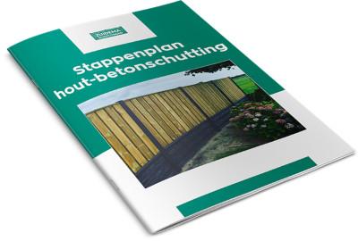 Stappenplan plaatsen van hout-betonschutting