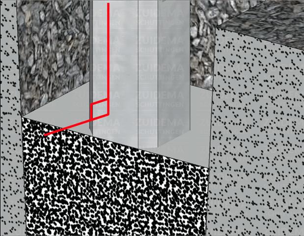 Storten van betonmortel