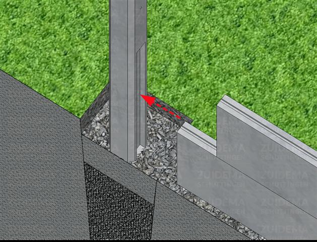 Liggen de betonelementen waterpas?